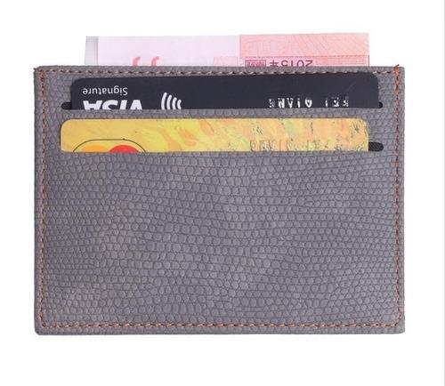 billetera tipo tarjetero eco-cuero - doble cara