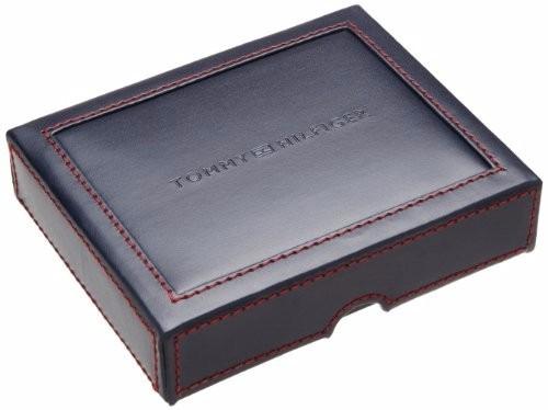 billetera tommy hilfiger cuero azul marino  u. s. a.