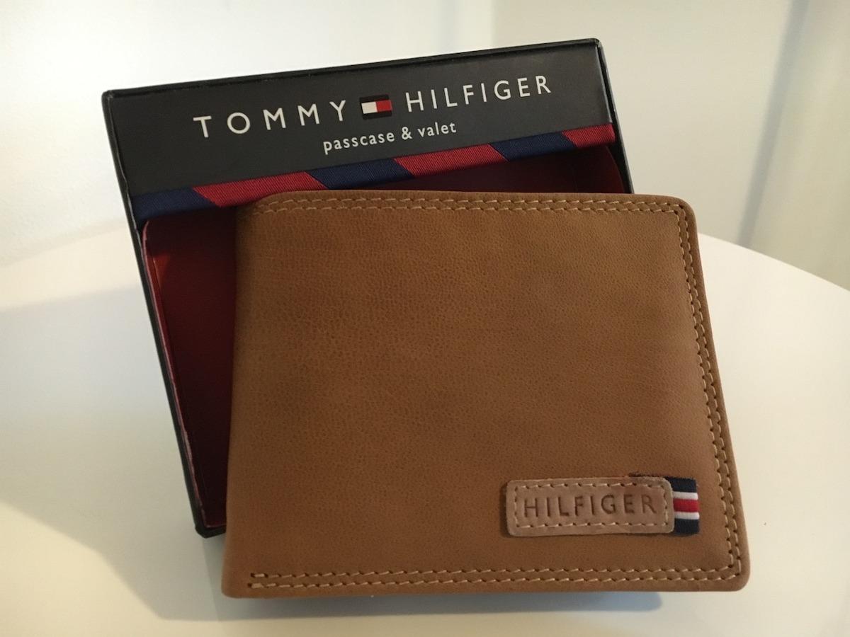 478a45b6596 billetera tommy hilfiger cuero marron - nueva en caja usa. Cargando zoom.