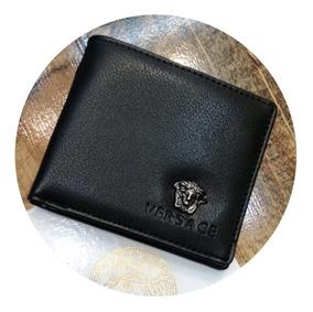 talla 40 f0cec 431f6 Billetera Versace En Cuero Para Caballero