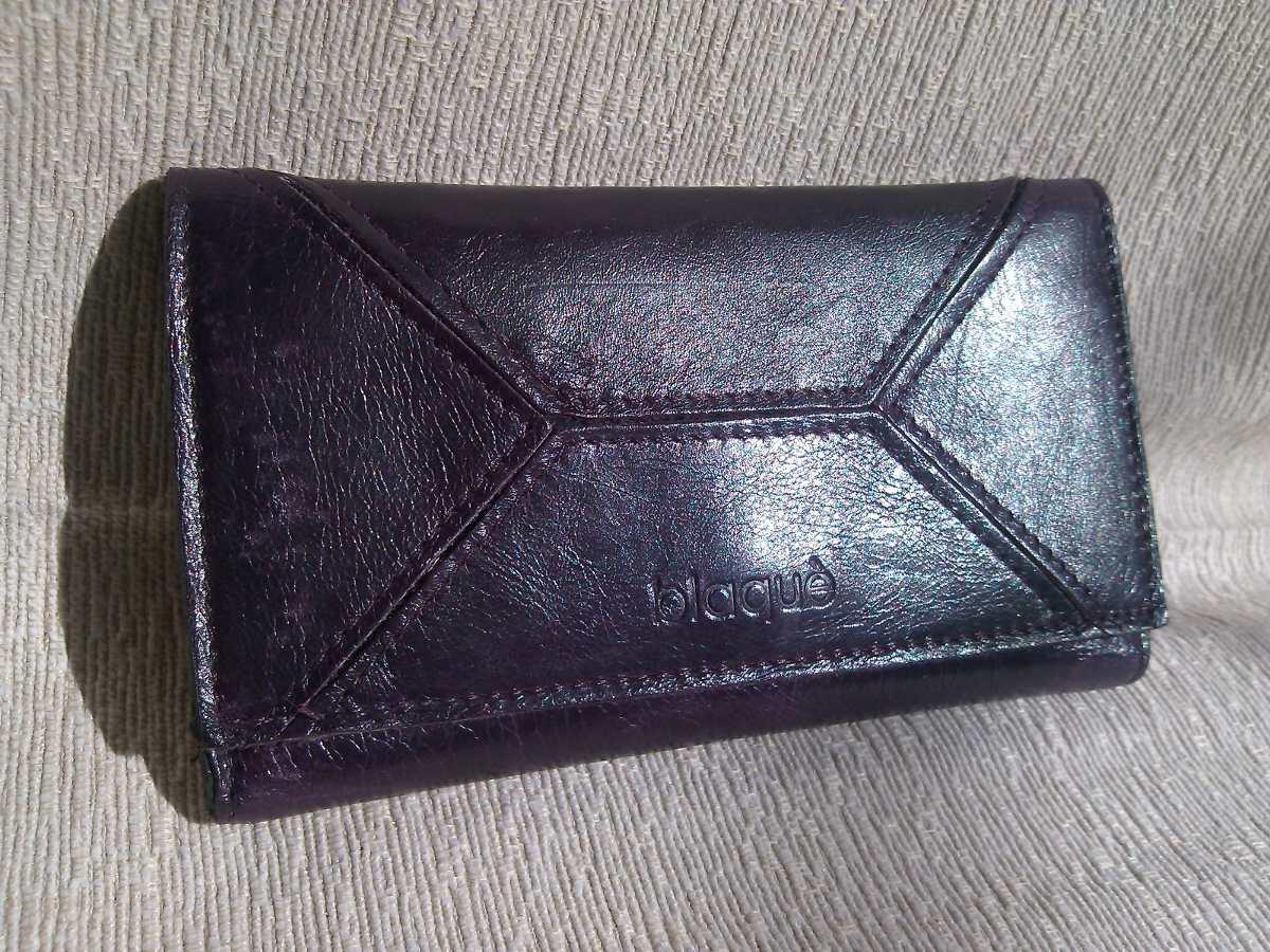 b3c3b1f20 Billetera Violeta De Mujer De Cuero Blaque - $ 180,00 en Mercado Libre