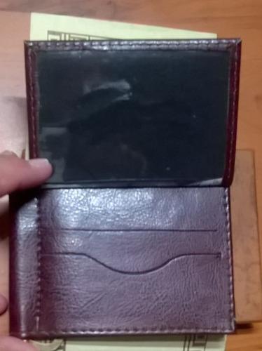 billetera y targetera levi's 501 scarred en cuero