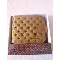 Billetera Vuitton Color Mostaza Modelo Unisex Nueva