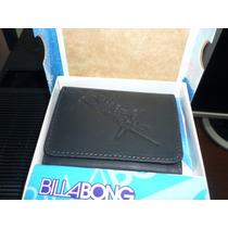 Billetera Billabong Cuero Original Negra Importada Mod5