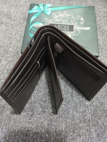 billeteras de hombre aron 100% cuerosan valentín