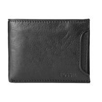 Billeteras Fossil Mens Passcase Wallet Black Ml 3288001 New