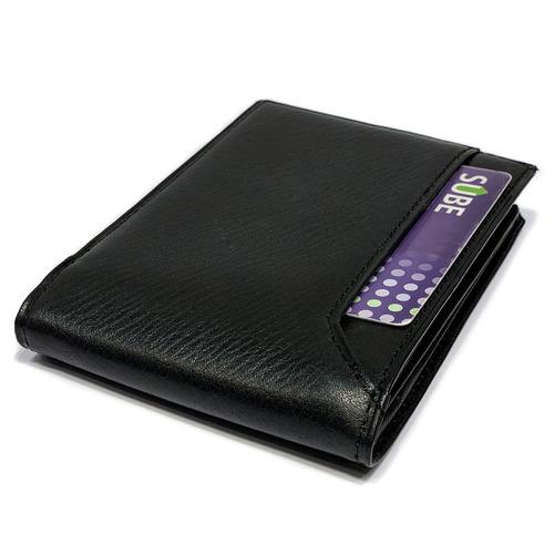 billeteras hombre cuero porta documentos capacidad para 12 tarjetas pesos dolares euros modelo 0916