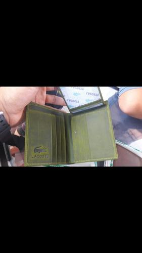 billeteras lacost 100 % cuero garantizado envio  gratis