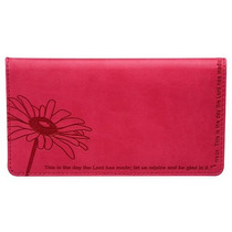 Billetera Psalm : Pink Checkbook Cover Para Mujer