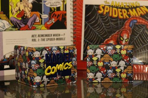 billeteras marvel - dc comics