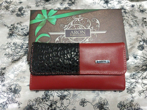 billeteras mujer aron 100% cuero san valentín
