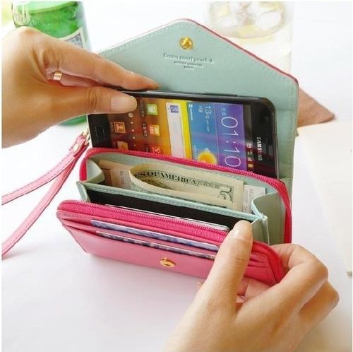 billeteras portacelular tarjetero con cierre mujer