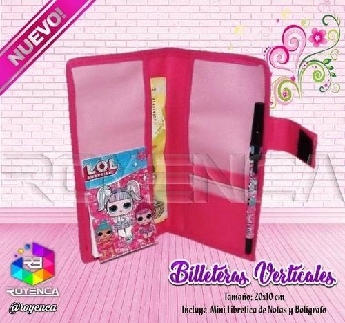 billeteras verticales personalizadas regalos navidad niñas