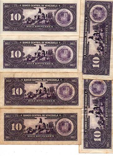 billetes 10 bolivares 1995 varios seriales 1,5$x cada uno