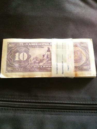 billetes 10 bolivares de 1990 serial h59312401 a h59312500