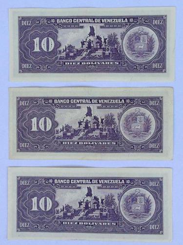 billetes 10 bolívares junio 5 de 1995 seriales q7 q7 s6