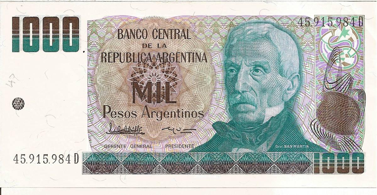 Billetes 1000 Pesos Argentinos Correlativos Cargando Zoom