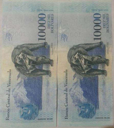 billetes 10000 bolivares pack de 4 unidades