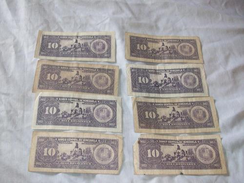 billetes 10bs 1995 serie p,q lote descontinuados remate