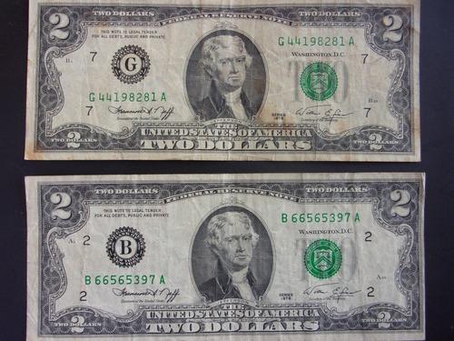 billetes 2 dolares- 1976