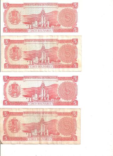 billetes 5 bs 1989 serie a lote descontinuados remate total