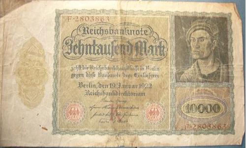 billetes alemania / lote de cuatro billetes a $300 /