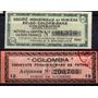 Pareja De Cupones De Acciones Colombianas