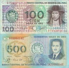 billetes antiguos del peru intis soles