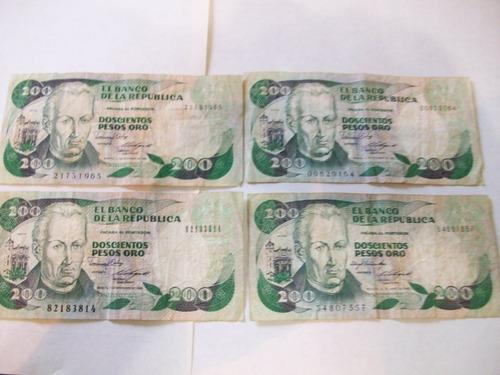billetes antiguos lote fuera circulación colombia 1985 y 88