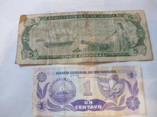billetes antiguos lote fuera circulación nicaragua