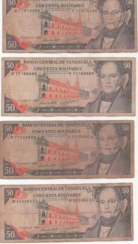 billetes antiguos venezolanos combo 5 - fuera de circulacion