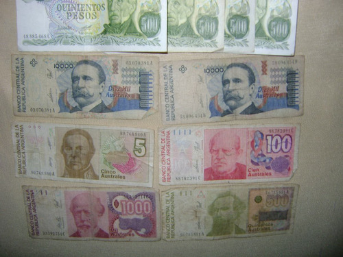 billetes australes billetes moneda