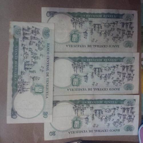 billetes coleccionables de bs 20, 1987 conmemorativo.
