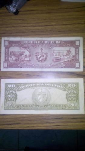 billetes cubanos de colección
