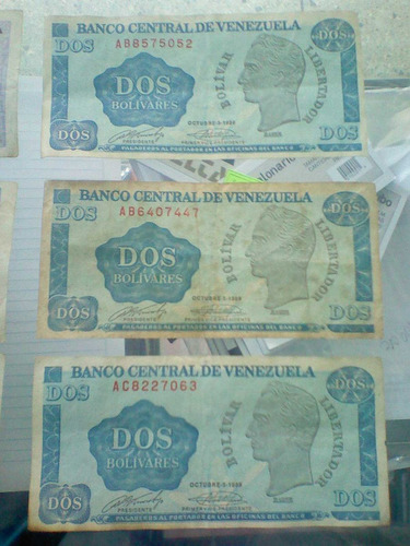 billetes de 1 y 2 bs de 1989 (tinoquitos)