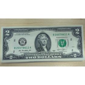 Billetes De 2 Dolares Americanos (lote De 10)