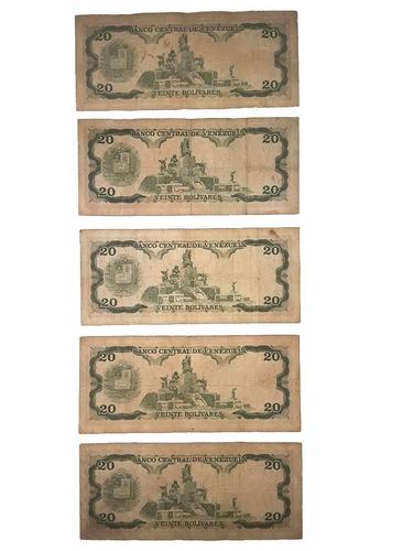 billetes de 20 bolívares 5 de junio de 1995