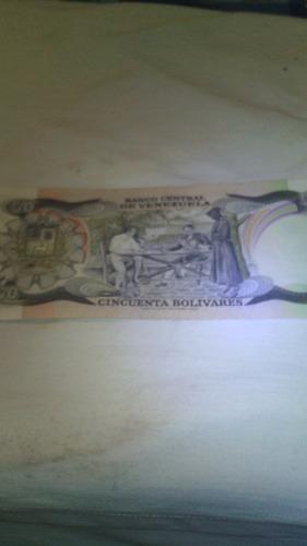 billetes de 50 venezolanos