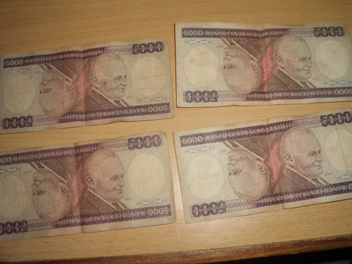 billetes de 5000 cruzeiros 1985
