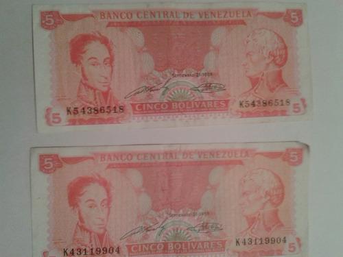 billetes de bs 5 lote de 40 billetes
