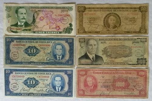 billetes de colección de costa rica