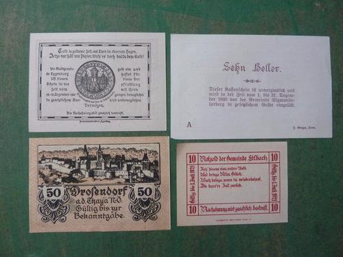 billetes de emergencia notgeld - lote 4 - vp