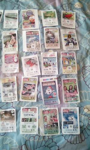 billetes de loteria antigüos
