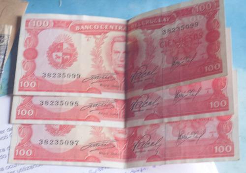billetes de nuevos pesos 100