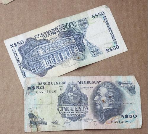 billetes de nuevos pesos 50