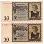 Billete 20 Reichsmark 16 Jun 1939 Alemania E10/10 Oferta