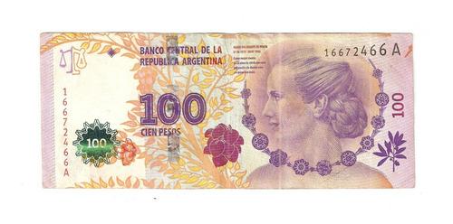 billetes evita 100 pesos serie a - primer 1º diseño varios num.