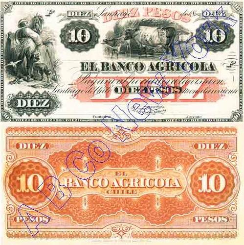 billetes facsimilares (6) banco agricola del a. baknote co