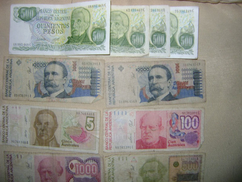 billetes moneda billetes australes