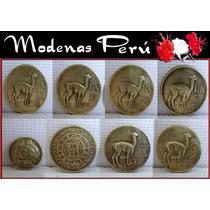 Dante42 Lote 08 Monedas Antiguo Un Sol De Oro 1965 Al 1975